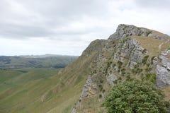 Paisaje de la montaña en un día nublado foto de archivo libre de regalías