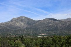 Paisaje de la montaña, España Imagenes de archivo