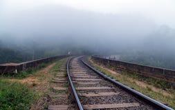 Paisaje de la montaña, ferrocarriles del puente, Ella, Sri Lanka Fotos de archivo libres de regalías