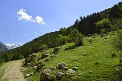 Paisaje de la montaña, garganta de Galuyan, Kirguistán Foto de archivo