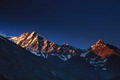 Paisaje de la montaña, Himalayan Fotografía de archivo libre de regalías