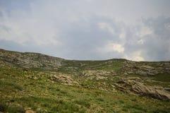 Paisaje de la montaña, Kirguistán Imagen de archivo libre de regalías