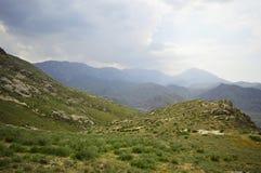 Paisaje de la montaña, Kirguistán Foto de archivo libre de regalías