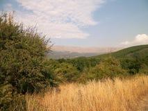 Paisaje de la montaña, Macedonia Imagen de archivo libre de regalías