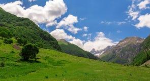 Paisaje de la montaña - montañas de Sibillini fotografía de archivo libre de regalías