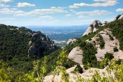 Paisaje de la montaña Montserrat Foto de archivo libre de regalías