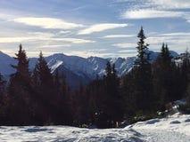 Paisaje de la montaña Nevado en vipiteno en el alto el Adigio del trentino imagen de archivo
