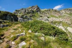 Paisaje de la montaña de Rila cerca de los siete lagos Rila, Bulgaria Fotografía de archivo libre de regalías