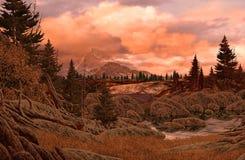 Paisaje de la montaña rocosa Fotografía de archivo libre de regalías