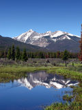 Paisaje de la montaña rocosa Foto de archivo libre de regalías