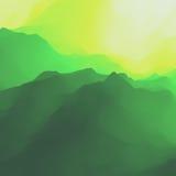 Paisaje de la montaña Terreno montañoso Diseño de la montaña Siluetas del vector de los fondos de las montañas Puesta del sol libre illustration