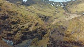 Paisaje de la monta?a en Islandia almacen de metraje de vídeo