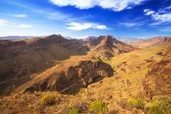 Paisaje de la montaña de la isla de Gran Canaria Imagen de archivo