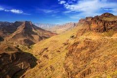 Paisaje de la montaña de la isla de Gran Canaria Fotos de archivo