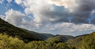 Paisaje de la montaña, Galilea superior en Israel Fotos de archivo