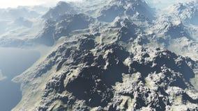 Paisaje de la mucha altitud ilustración del vector