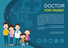Paisaje de la mujer del doctor y del cartel del fondo de los niños fotografía de archivo libre de regalías