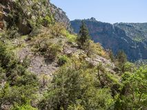 Paisaje de la naturaleza de la belleza de las montañas de la roca del tauro en Turquía Foto de archivo libre de regalías