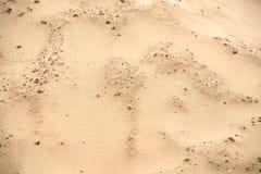 Paisaje de la naturaleza con la porción de cierre marrón de la arena del desierto para arriba Foto de archivo libre de regalías