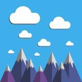 Paisaje de la naturaleza del cielo del fondo del ejemplo del vector Fotografía de archivo