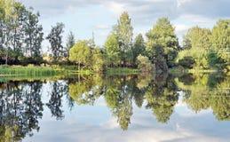 Paisaje de la naturaleza salvaje en el lago Fotografía de archivo libre de regalías
