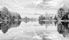 Paisaje de la naturaleza salvaje en el río Fotografía de archivo libre de regalías