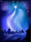Paisaje de la Navidad Imagen de archivo libre de regalías