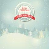 Paisaje de la Navidad Fotografía de archivo libre de regalías