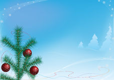 Paisaje de la Navidad. Foto de archivo