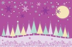 Paisaje de la Navidad del invierno Foto de archivo libre de regalías
