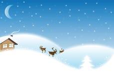 Paisaje de la Navidad del invierno Imagen de archivo