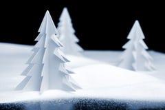 Paisaje de la Navidad de Kirigami Foto de archivo