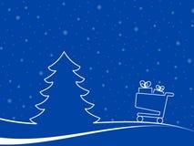 Paisaje de la Navidad para el tema del comercio electrónico Fotos de archivo