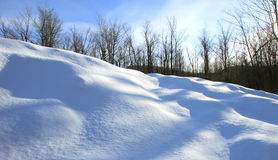 Paisaje de la nieve Fotos de archivo