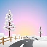 Paisaje de la nieve Imagenes de archivo
