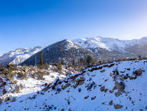 Paisaje de la nieve de la montaña en Sichuan Imagenes de archivo