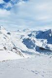 Paisaje de la nieve de Zermatt Imágenes de archivo libres de regalías