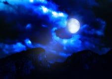 Paisaje de la noche Foto de archivo libre de regalías
