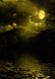 Paisaje de la noche Fotos de archivo