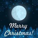 Paisaje de la noche del invierno Fondo del invierno Ilustración del vector Fotos de archivo libres de regalías