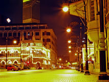 Paisaje de la noche en Kuala Lumpur Foto de archivo libre de regalías