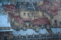Paisaje de la noche en St Petersburg Fotografía de archivo