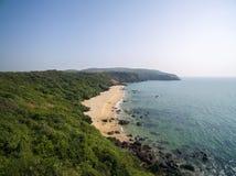 Paisaje de la opinión aérea de la playa de Xandrem de la belleza, Foto de archivo