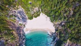 Paisaje de la opinión aérea de la playa de Xandrem de la belleza, fotografía de archivo