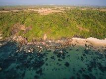 Paisaje de la opinión aérea de la playa de Xandrem de la belleza, Imagenes de archivo