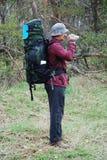 Paisaje de la película del caminante. imagen de archivo libre de regalías