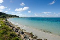 Paisaje de la península Nueva Zelanda de Karikari fotos de archivo libres de regalías