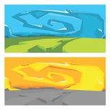 Paisaje de la pintada del vector Imágenes de archivo libres de regalías