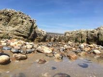 Paisaje de la piscina de la roca fotografía de archivo libre de regalías