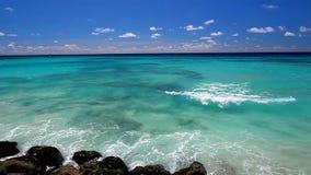 Paisaje de la playa de Barbados metrajes